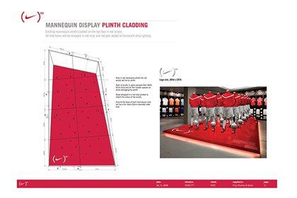 Prop Studios' original mannequin display platform, created as an instore display for Niketown