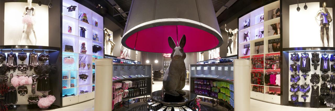 Prop Studios sculpture is a suggestive nod to Ann Summer's sex toy Rampant Rabbit