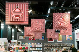 Prop Studios' designs were hung throughout the gift shop of the Tate Modern, adding a subtle touch of Christmas to the gallery