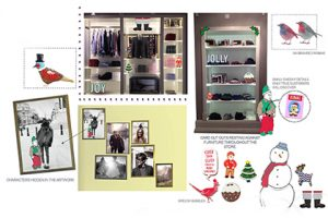 Initial concept designs created by Prop Studios, showing details which were to be hidden within the Jack Wills store