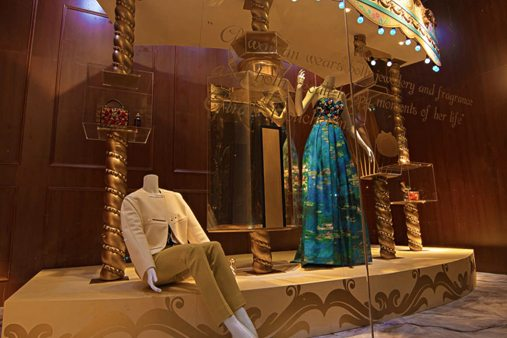 Image of a giant perfume bottle, designed and built by Prop Studios exclusively for Al Rubaiyat's window display