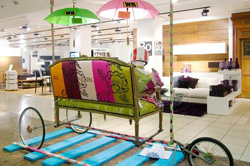 Another of Prop Studios' contraptions designed and constructed for Selfridges' Wacky Races window scheme