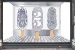 Three individual miniature embellished Magnums, designed and constructed by Prop Studios to celebrate 25 years of the ice cream brand