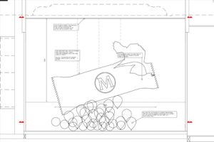 Prop Studios' original design concept for one of the four Magnum Wonder Room windows