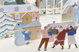 The depiction of festive scenes of family, love and friendship were at the heart of Prop Studios' visual merchandising campaign