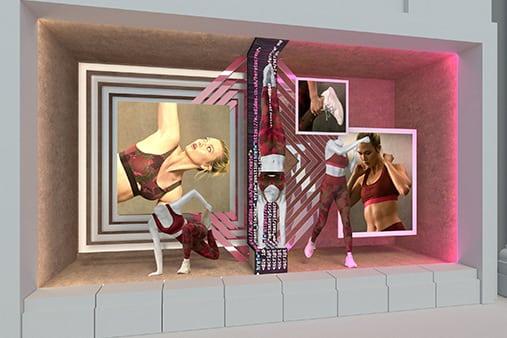 Adidas Window Design | Design Concept 13 | Prop Studios