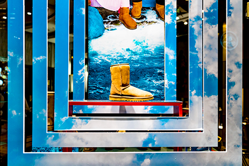 UGG 40th Anniversary Campaign | Selfridges Windows Display 3 | Prop Studios